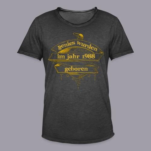Genies wurden im Jahr 1988 geboren - Männer Vintage T-Shirt