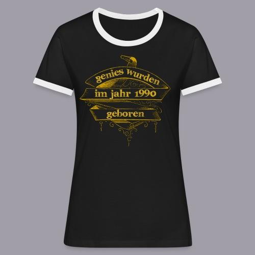 Genies wurden im Jahr 1990 geboren - Frauen Kontrast-T-Shirt