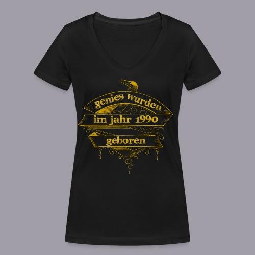 Genies wurden im Jahr 1990 geboren - Frauen Bio-T-Shirt mit V-Ausschnitt von Stanley & Stella