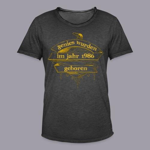 Genies wurden im Jahr 1986 geboren - Männer Vintage T-Shirt