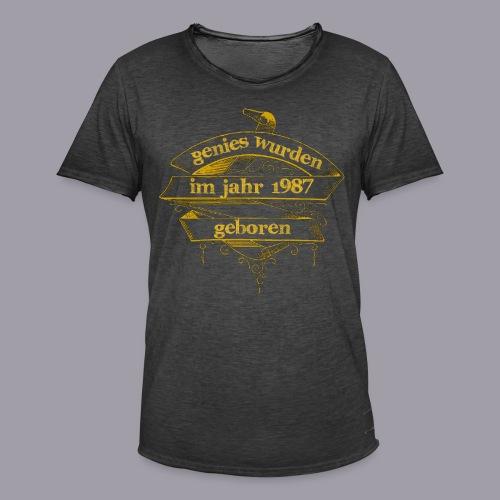 Genies wurden im Jahr 1987 geboren - Männer Vintage T-Shirt