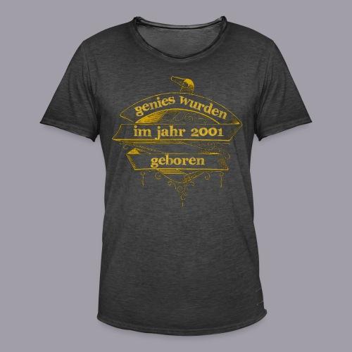 Genies wurden im Jahr 2001 geboren - Männer Vintage T-Shirt