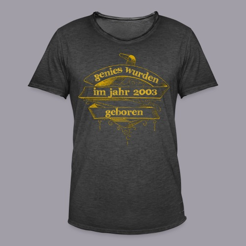 Genies wurden im Jahr 2003 geboren - Männer Vintage T-Shirt