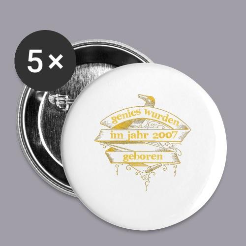 Genies wurden im Jahr 2007 geboren - Buttons groß 56 mm (5er Pack)