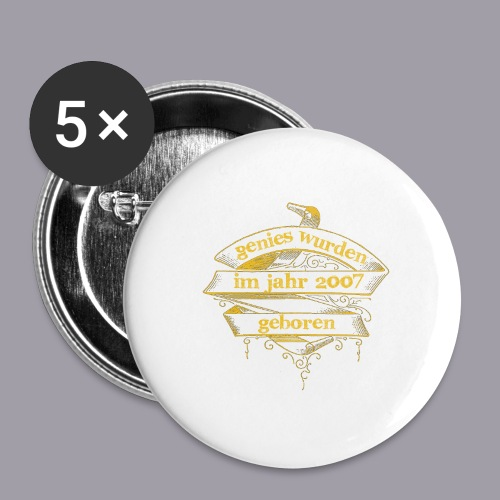 Genies wurden im Jahr 2007 geboren - Buttons mittel 32 mm (5er Pack)