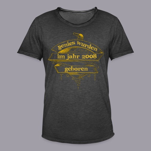 Genies wurden im Jahr 2008 geboren - Männer Vintage T-Shirt