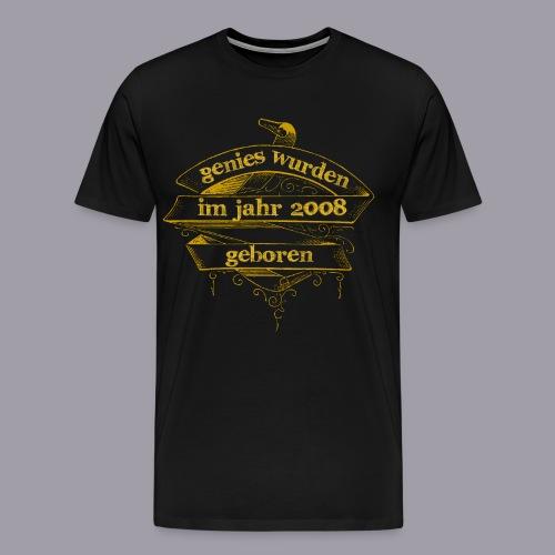 Genies wurden im Jahr 2008 geboren - Männer Premium T-Shirt