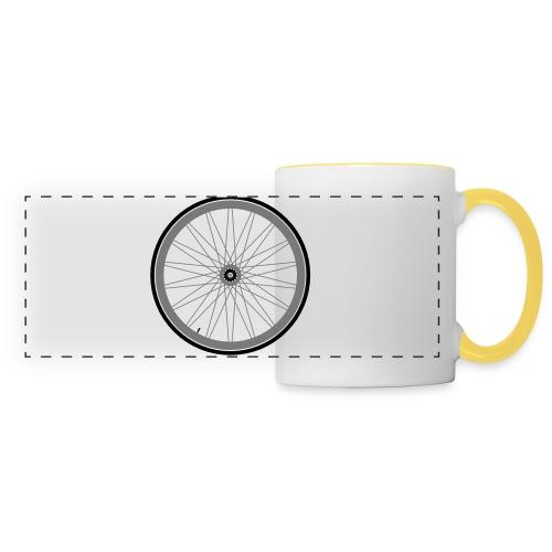 Roue de vélo - Mug panoramique contrasté et blanc