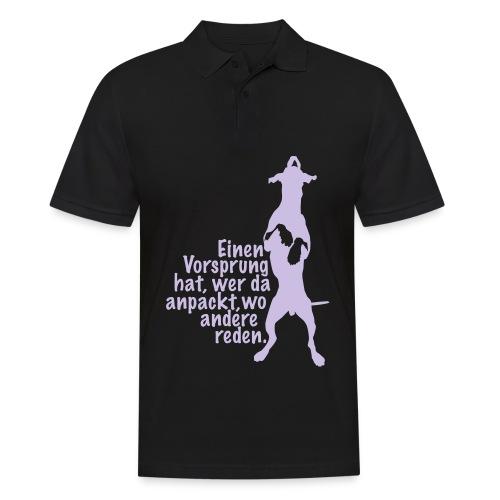 Vorsprung durch Handlung - Männer Poloshirt