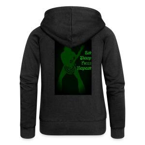 Eat Sleep Fuzz Repeat - Women's Premium Hooded Jacket