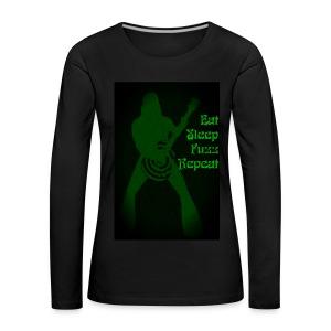 Eat Sleep Fuzz Repeat - Women's Premium Longsleeve Shirt