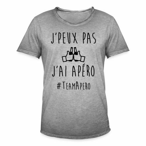J'PEUX PAS J'AI APERO #TEAM APERO - T-shirt vintage Homme