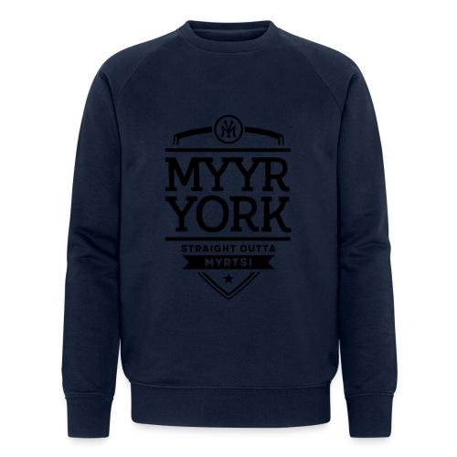 Myyr York - Straight Outta Myrtsi - Stanley & Stellan miesten luomucollegepaita