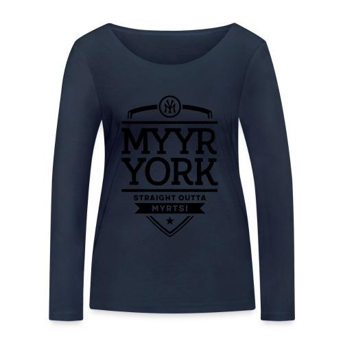 Myyr York - Straight Outta Myrtsi - Stanley & Stellan naisten pitkähihainen luomupaita