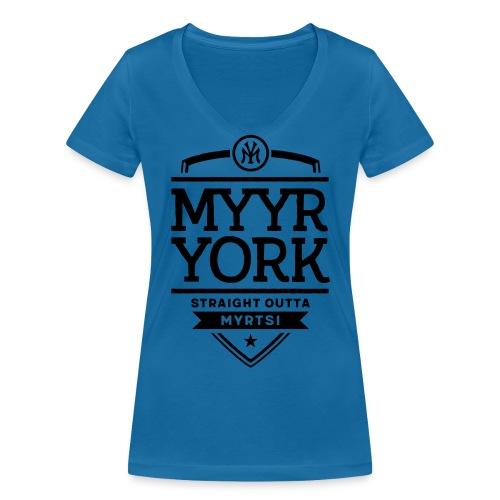 Myyr York - Straight Outta Myrtsi - Stanley & Stellan naisten v-aukkoinen luomu-T-paita