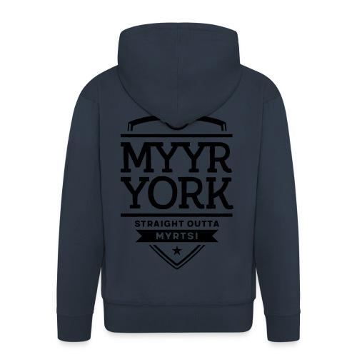 Myyr York - Straight Outta Myrtsi - Miesten premium vetoketjullinen huppari