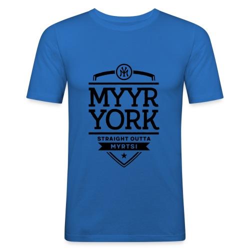 Myyr York - Straight Outta Myrtsi - Miesten tyköistuva t-paita