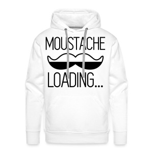 T-shirt Moustache Loading - Sweat-shirt à capuche Premium pour hommes