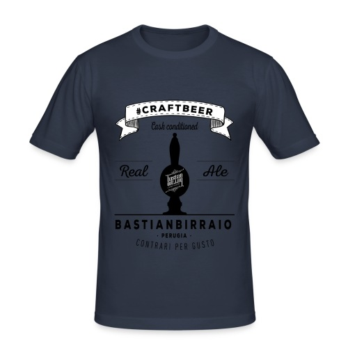 T-Shirt Real Ale bianca - Maglietta aderente da uomo