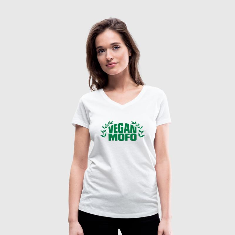 I'M A VEGAN MOTHERFUCKER! T-Shirts - Women's V-Neck T-Shirt