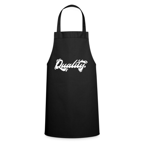 Quality. Lettering [White] - Cooking Apron
