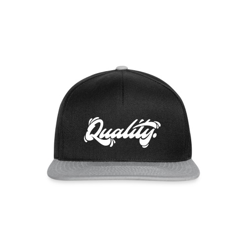 Quality. Lettering [White] - Snapback Cap