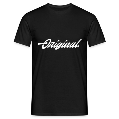 Original Lettering [White] - Men's T-Shirt