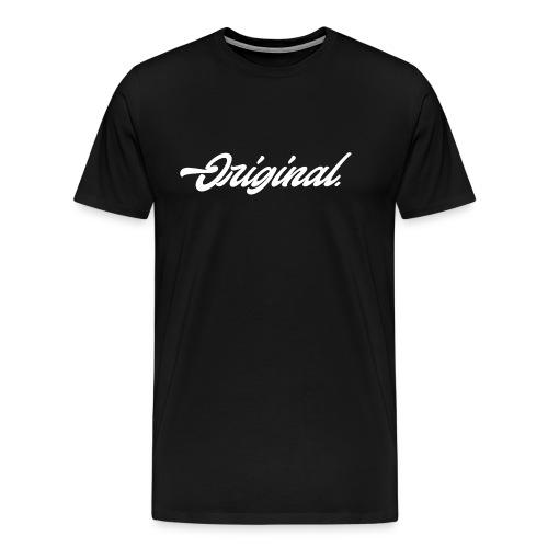 Original Lettering [White] - Men's Premium T-Shirt