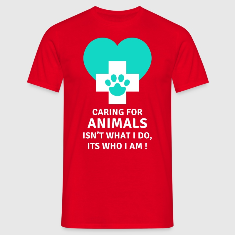 Caring for animals Veterinary T-shirt T-Shirts - Men's T-Shirt