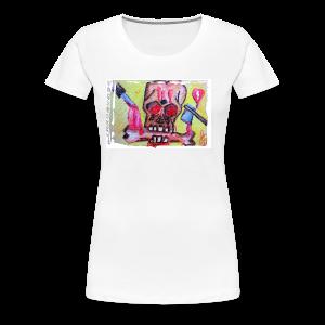 Schädel für Halloween - Frauen Premium T-Shirt