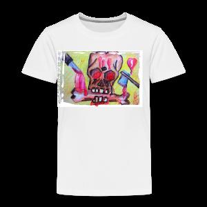 Schädel für Halloween - Kinder Premium T-Shirt