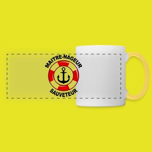 Badge Maître Nageur Sauveteur - Mug panoramique contrasté et blanc