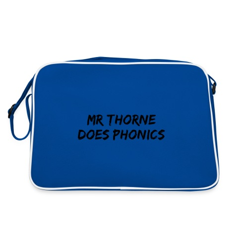 Mr Thorne Does Phonics Tote Bag (Blue) - Retro Bag