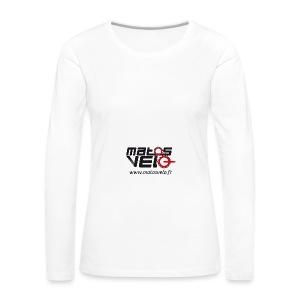 Tasse café Matos vélo - T-shirt manches longues Premium Femme