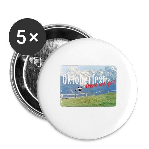 Oktoberfest – Here we go! - Buttons medium 1.26/32 mm (5-pack)