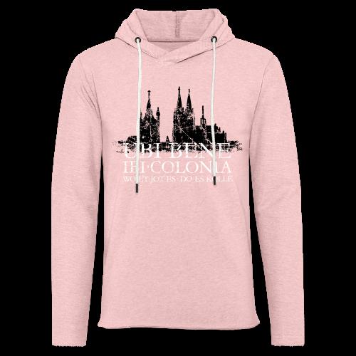 UBI BENE DO ES KÖLLE Dom St.Martin (Vintage S/W) Köln Skyline - Leichtes Kapuzensweatshirt Unisex