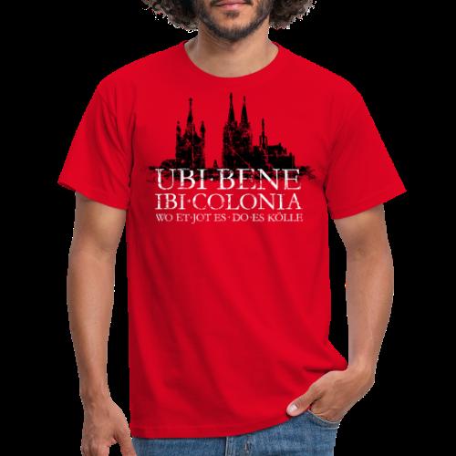 UBI BENE DO ES KÖLLE Dom St.Martin (Vintage S/W) Köln Skyline - Männer T-Shirt