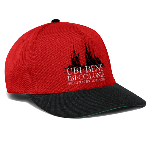 UBI BENE DO ES KÖLLE Dom St.Martin (Vintage S/W) Köln Skyline - Snapback Cap
