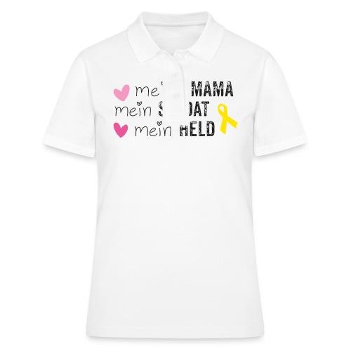 Meine Mama, mein Soldat, mein Held  - Frauen Polo Shirt