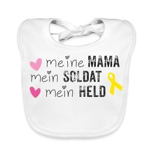 Meine Mama, mein Soldat, mein Held  - Baby Bio-Lätzchen