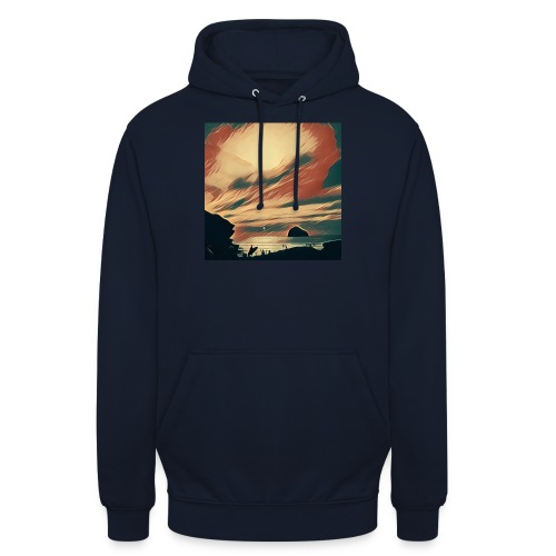Unisex Hoodie - Water,Surfing,Surf,Seaside,Sea,Scene,Cornwall,Beach