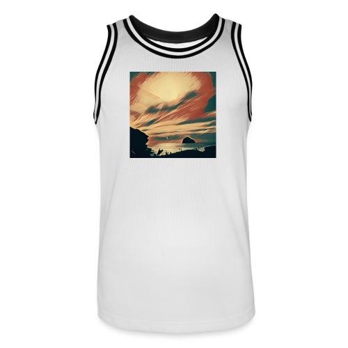 Men's Basketball Jersey - Water,Surfing,Surf,Seaside,Sea,Scene,Cornwall,Beach
