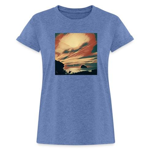 Women's Oversize T-Shirt - Water,Surfing,Surf,Seaside,Sea,Scene,Cornwall,Beach