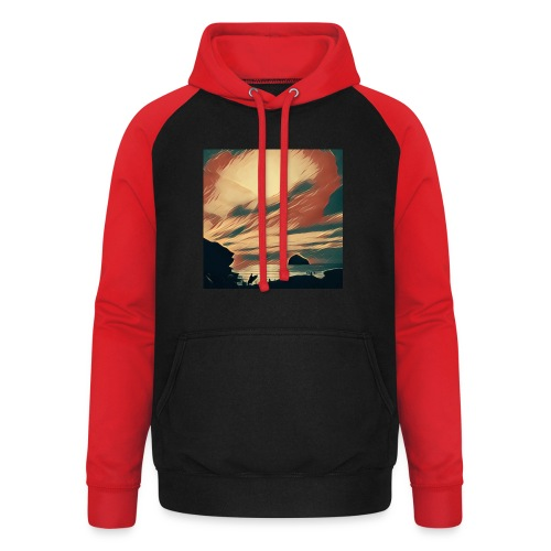 Unisex Baseball Hoodie - Water,Surfing,Surf,Seaside,Sea,Scene,Cornwall,Beach