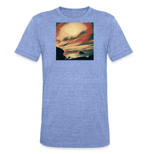 Unisex Tri-Blend T-Shirt by Bella & Canvas - Water,Surfing,Surf,Seaside,Sea,Scene,Cornwall,Beach