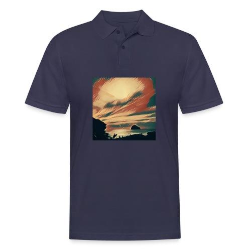 Men's Polo Shirt - Water,Surfing,Surf,Seaside,Sea,Scene,Cornwall,Beach