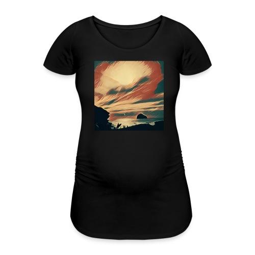 Women's Pregnancy T-Shirt  - Water,Surfing,Surf,Seaside,Sea,Scene,Cornwall,Beach