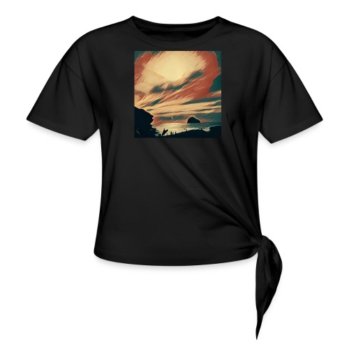 Knotted T-Shirt - Water,Surfing,Surf,Seaside,Sea,Scene,Cornwall,Beach