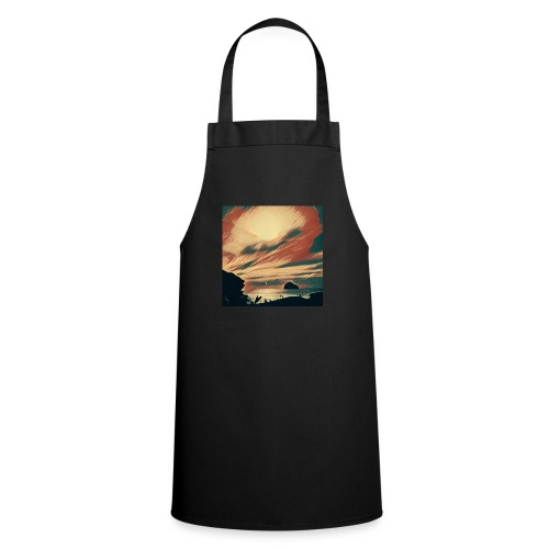 Cooking Apron - Water,Surfing,Surf,Seaside,Sea,Scene,Cornwall,Beach