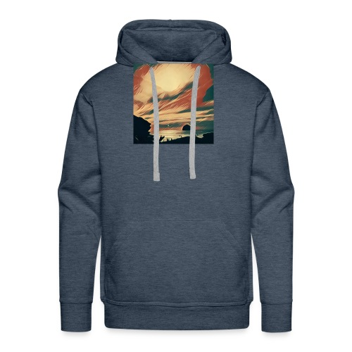 Men's Premium Hoodie - Water,Surfing,Surf,Seaside,Sea,Scene,Cornwall,Beach